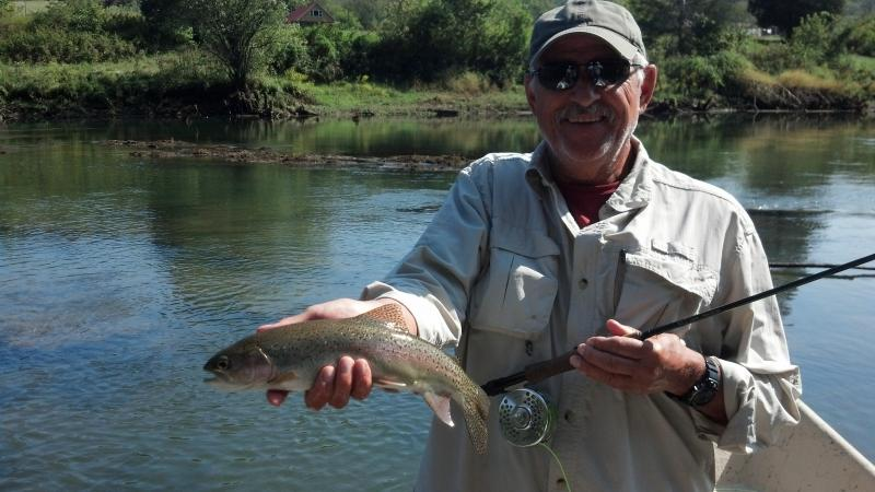 guide trout fly fishing in east tennessee drift boat
