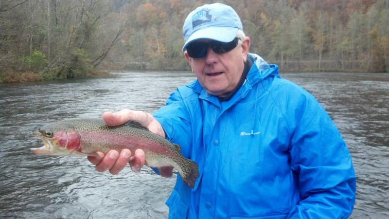 Hiwassee River DH Rainbow Trout Guided Fly Fishing