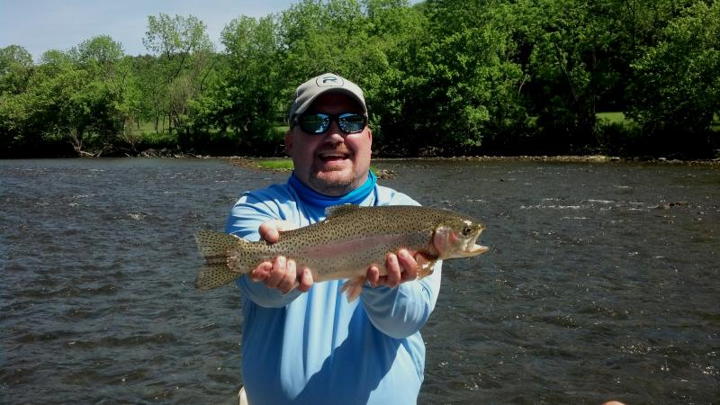Trophy Tennessee Trout caught while fly fishing in TVA Tailwaters