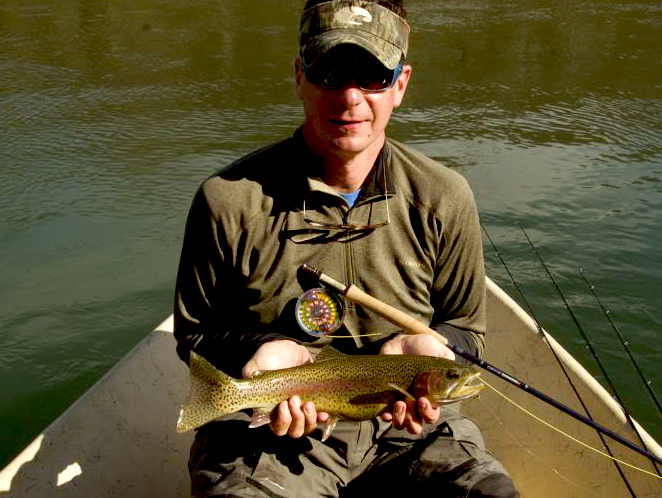 Clinch River Rainbow Trout. Guided float trips in Tennessee with Rocky Top Angle