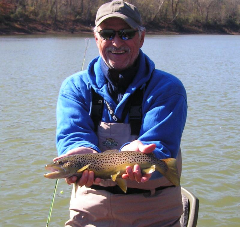 Cumberland River Brown Trout with Fly Guide Rocky Cox