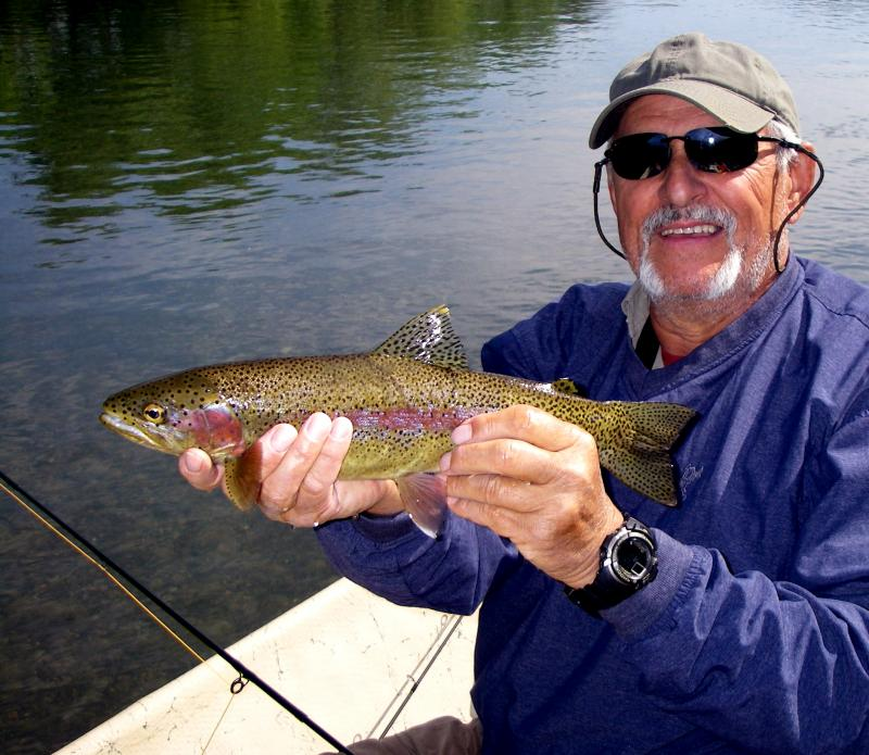 Fly Fishing Rainbow Trout Guided Drift Boat in East Tennessee on the Clinch