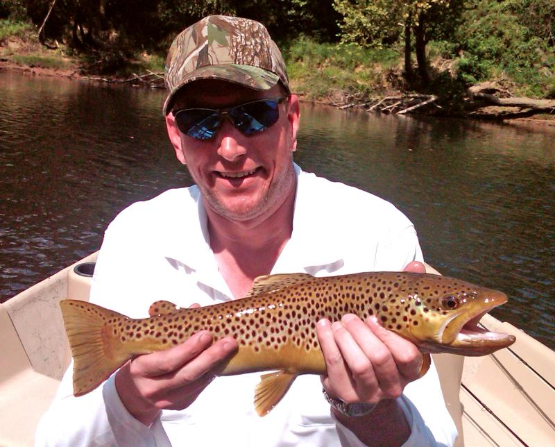 Cumberland River Brown Trout Fly Fishing Guide Rocky Cox Grasshopper Fishing