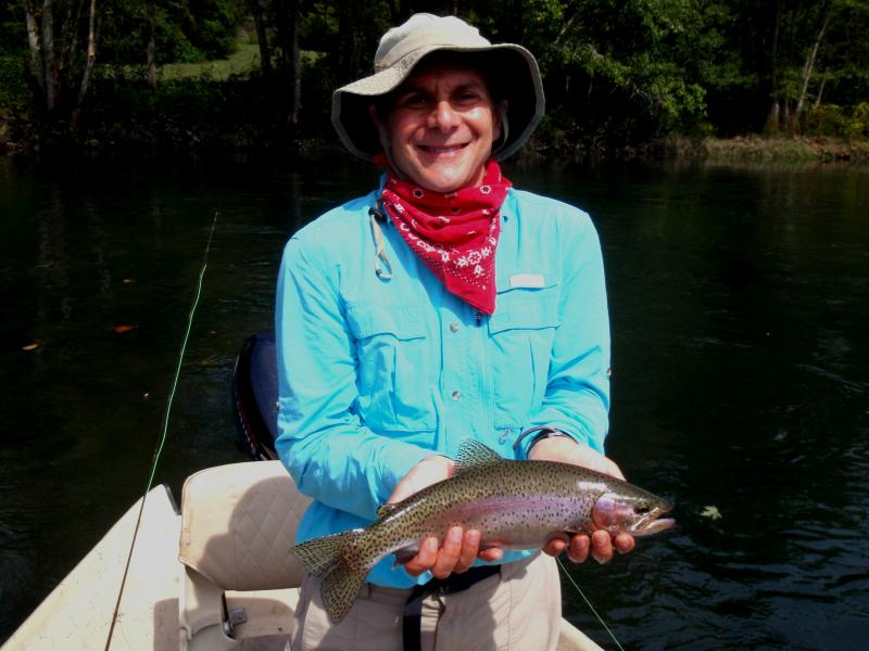 Trout fishing success on Tennessee trout tailwaters with fly fishing guide