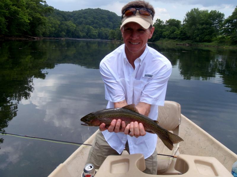 Beautiful and elusive rainbow trout from a quality trout river in Tennessee.