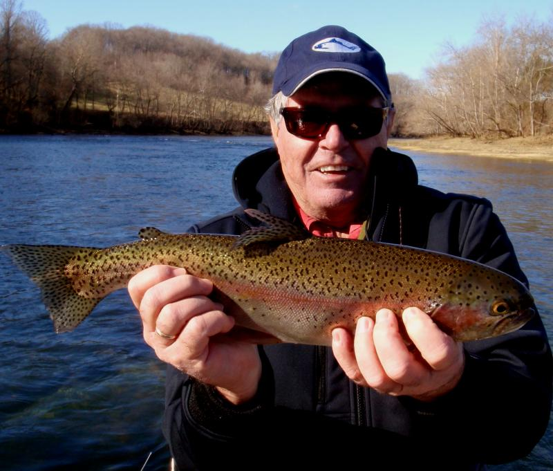 Dick W. with a nice Holston River Rainbow.