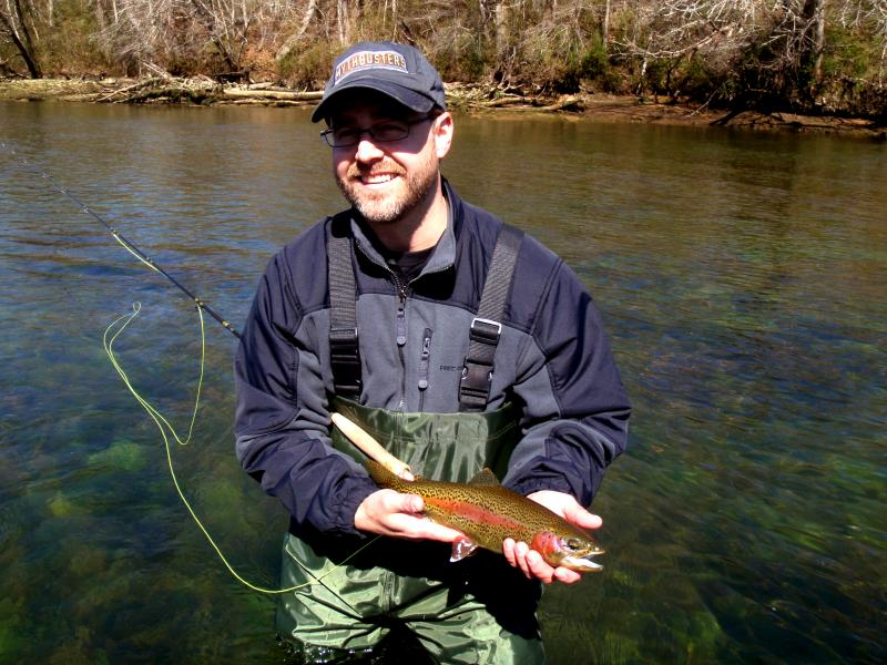 Clinch River tailwater rainbow trout fly fishing guide