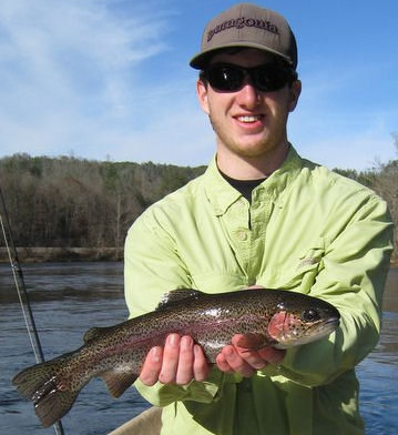 Tennessee Fly Fishing Trout Guide Rocky Cox and a happy client