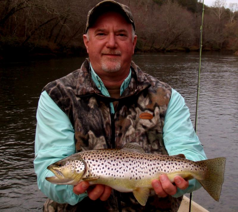 March fly fishingin east Tennessee with guide rocky cox