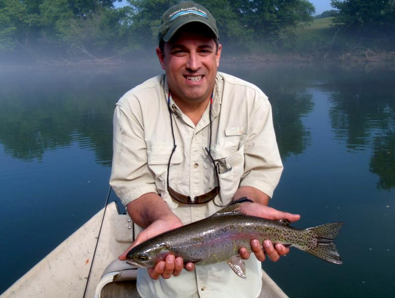 Tennessee rainbow trout caught on the Clinch River by fly fishing anglers