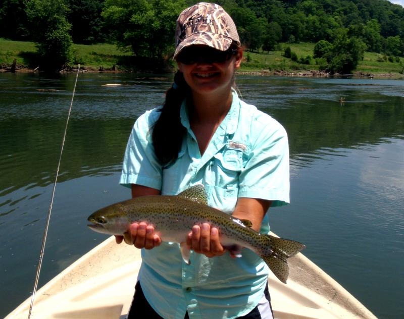 Trophy tailwater trout in Tennessee caught by Fly Fishermen