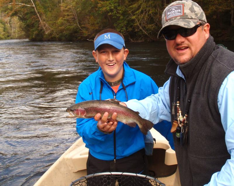 Hiwassee River Delayed Harvest Rainbow Trout with Hiwassee River Guide Rocky Cox