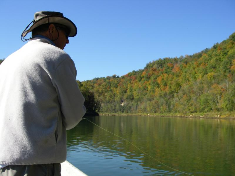 Fall colors on the Cumberland River Trout Trip