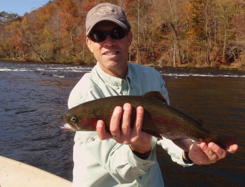 "Jeff W. made good on this 18"" rainbow trout."