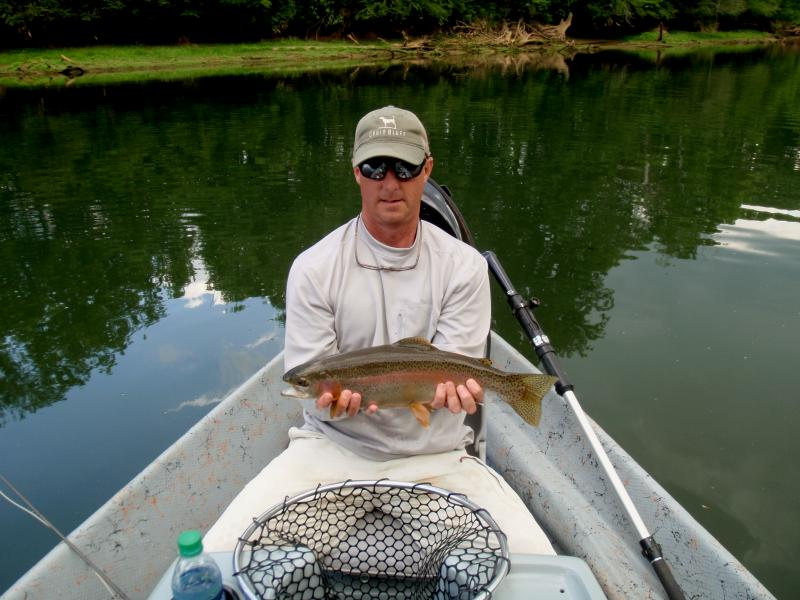 Trophy Trout Fishing on the famous tailwaters of east Tennessee With Guide Rocky