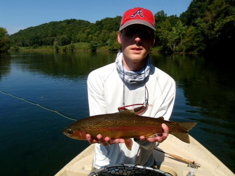 Trophy rainbow trout can be found in many tailwaters here in Tennessee.