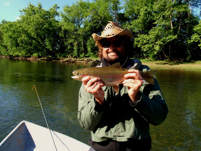 Trophy class rainbow trout caught on tennessee tailwaters.