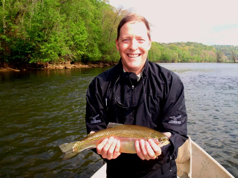 Quality trout fishing near Knoxville. Trophy class trout, outfitter guides.