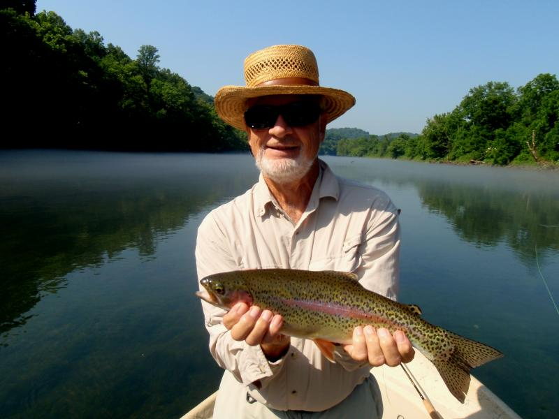 Beautiful and elusive rainbow trout from quality trout fishery in Tennessee.