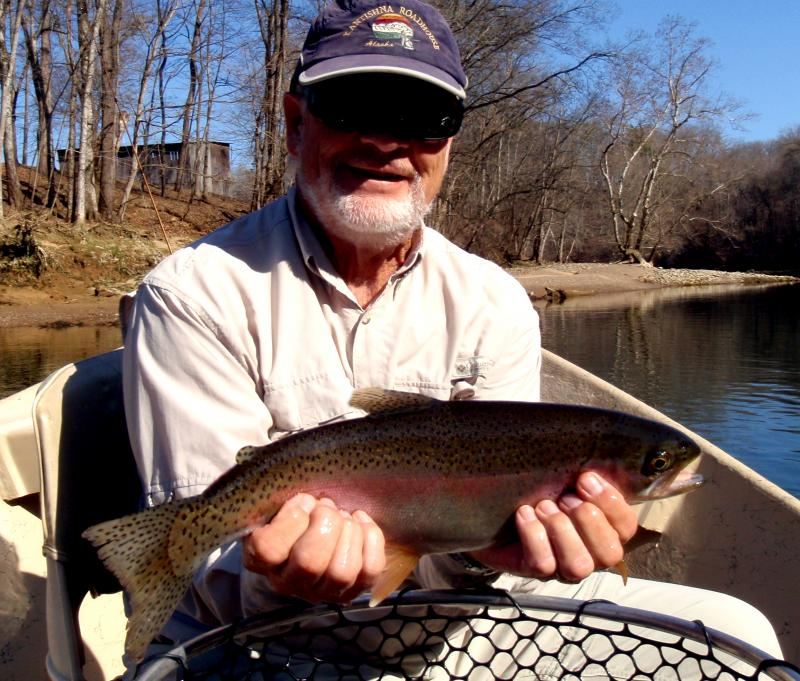 Fat rainbow trout caught in Tennessee on one of the states great tailwaters