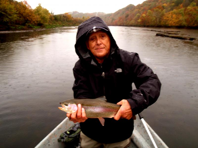 Rainy weather means good fishing on Tennessee's Clinch River Fly Fishing