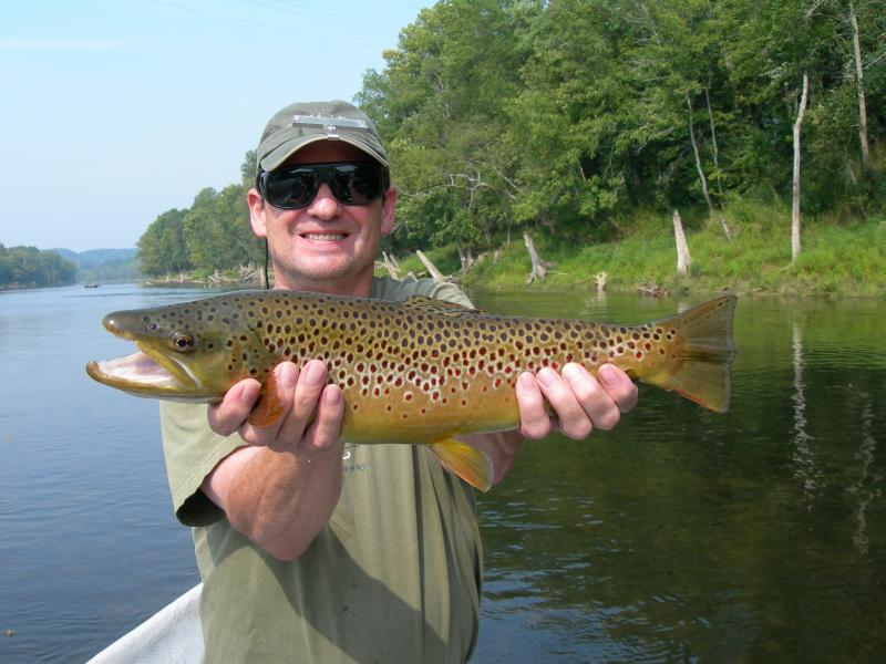 Large Cumberland River Brown Trout Caught With Guide Rocky Cox