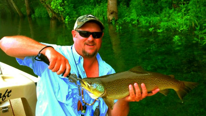 Trophy Clinch River Brown Trout with Rocky Cox of Rocky Top Anglers