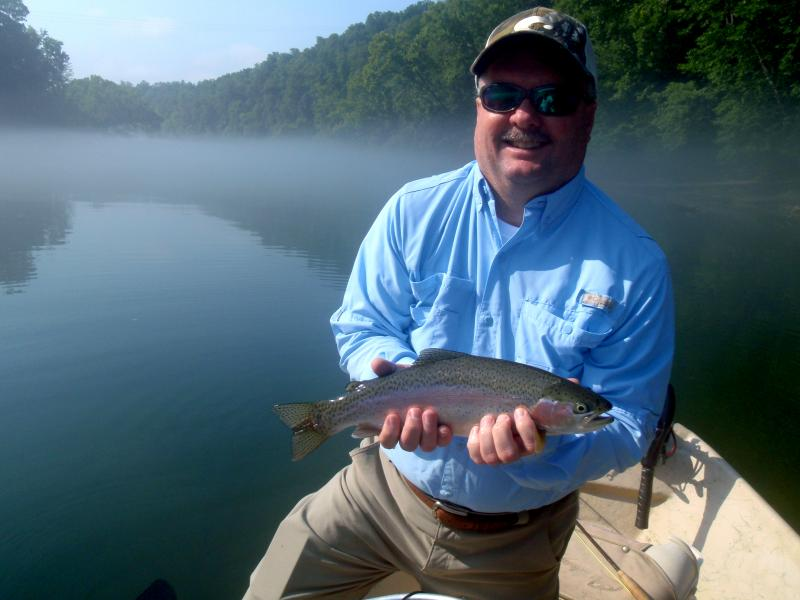 Trophy Tennessee Tailwater Trout Caught on a guided drift boat trip