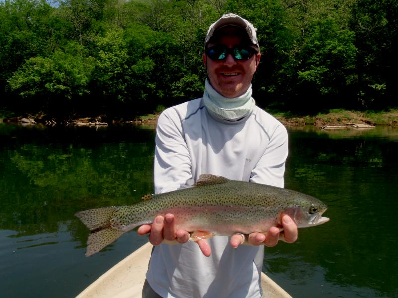 Trophy tailwater trout in Tennessee with Rocky Top Anglers Guide Rocky Cox