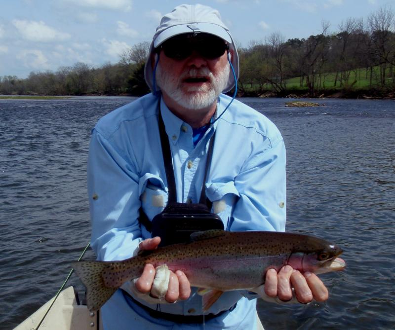 Trophy rainbow trout caught in east Tennessee near Knoxville.