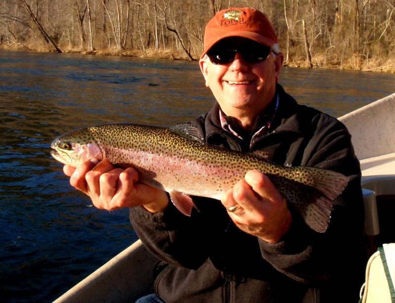 Vance's last fish of the trip....another beautiful rainbow trout.