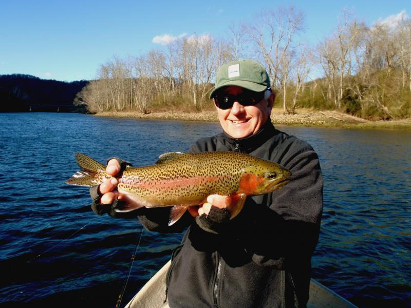 Trophy trout can be caught in the winter and so can the occasional nice day,