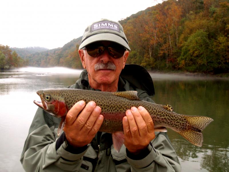Trophy rainbow trout near Knoxville Tennessee.