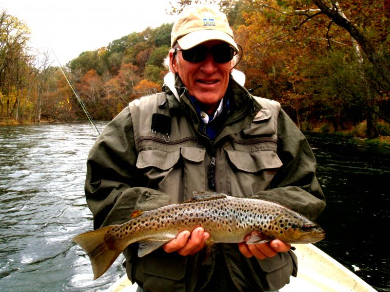 South Holston River Guided Drift Boat Brown Trout