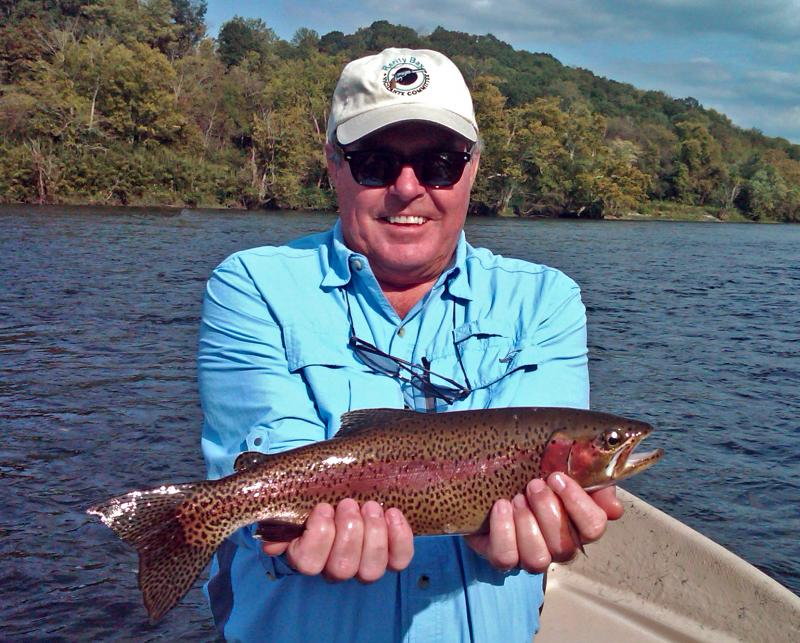 Rainbow Trout Caught Flyfishing with Tennessee Fly Fishing Guide Rocky Cox