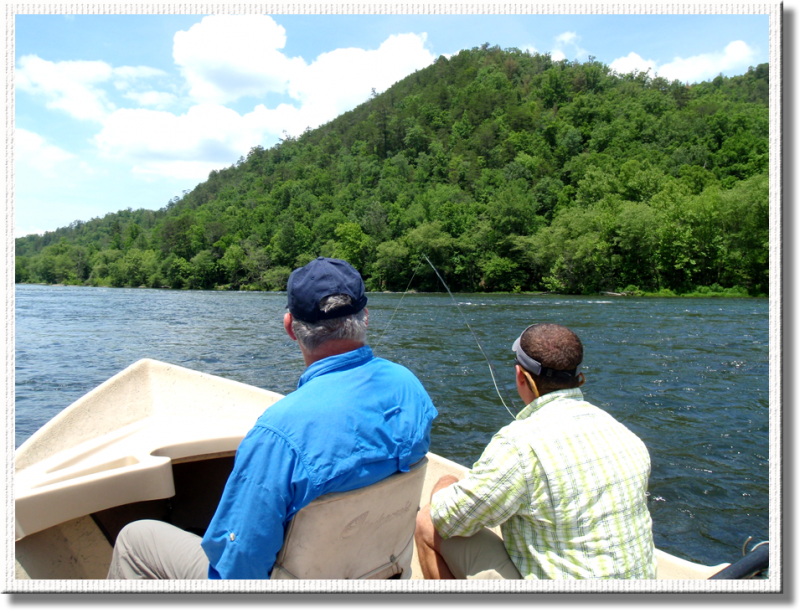 Alex Quick of Blackberry assist an angler, as we enjoy the Hiwassee scenery.